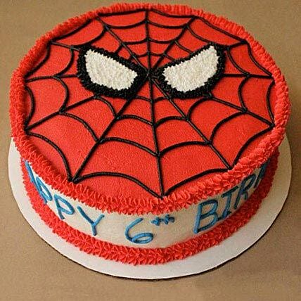 Creamy Spiderman Treat Cake: Designer Cakes