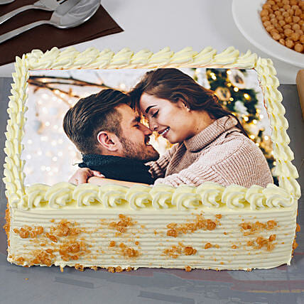 Crunchy Butterscotch Photo Cake: Send Butterscotch Cakes