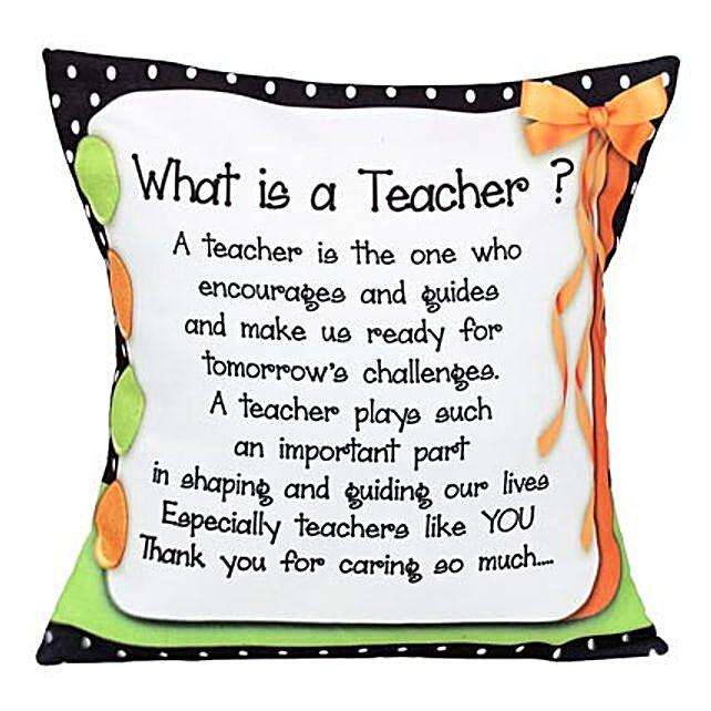 Cushion For Teacher: Gifts for Teachers Day