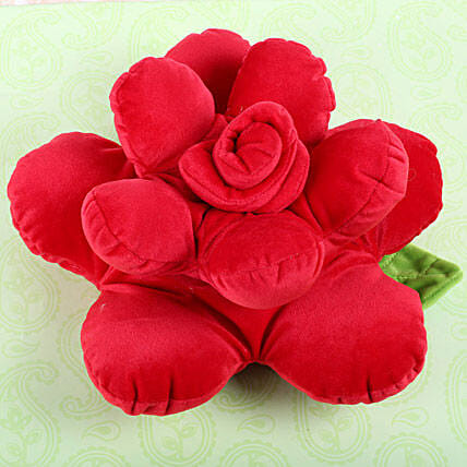 Cute Flower Shaped Pillow: Soft toys for Bhai Dooj