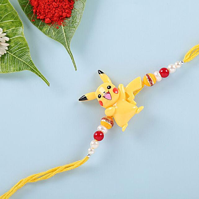 Cute Pikachu Rakhi: Cartoon Rakhi