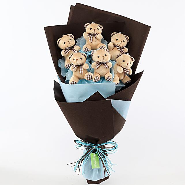 Cute Teddy Bear Bouquet: Soft Toys Gifts