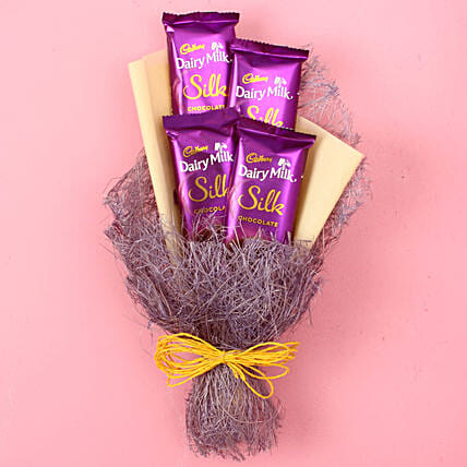 Dairy Milk Silk Chocolate Bouquet: Thinking Of You