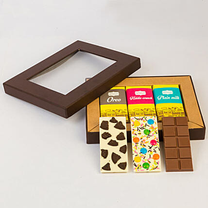Delicious 3 Chocolate Bars Box: Chocolate Gifts in India