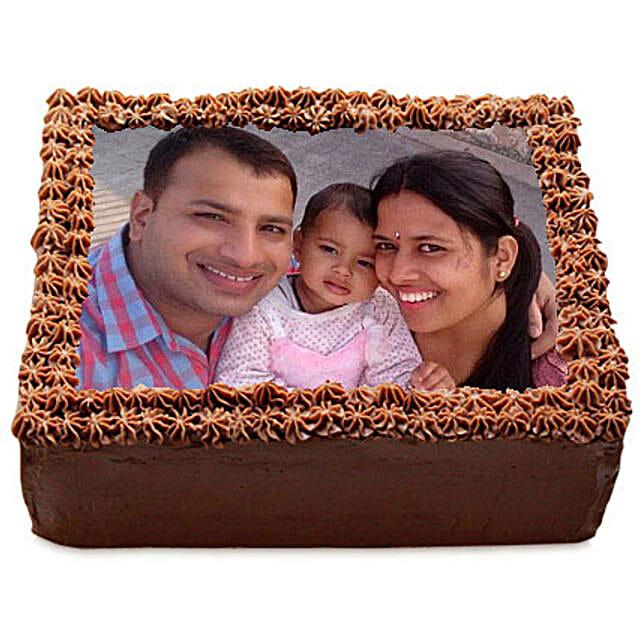 Delicious Chocolate Photo Cake: Photo Cakes for Birthday