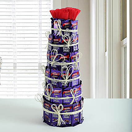 Delicious Dairy Milk Tower: Chocolates Shopping India