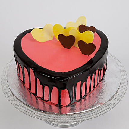 Delicious Hearts Cake: Chocolate Cake