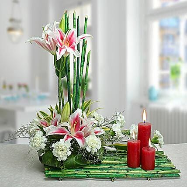 Delightful Arrangement: Send Carnations
