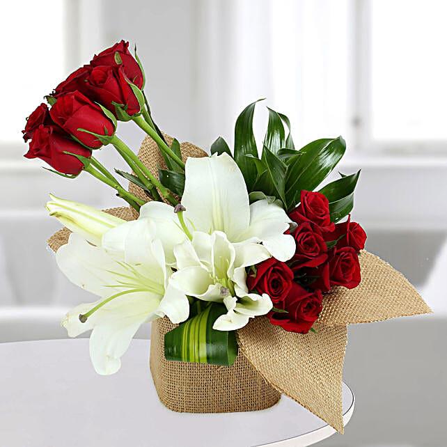 Delightful Flowers Vase Arrangement: