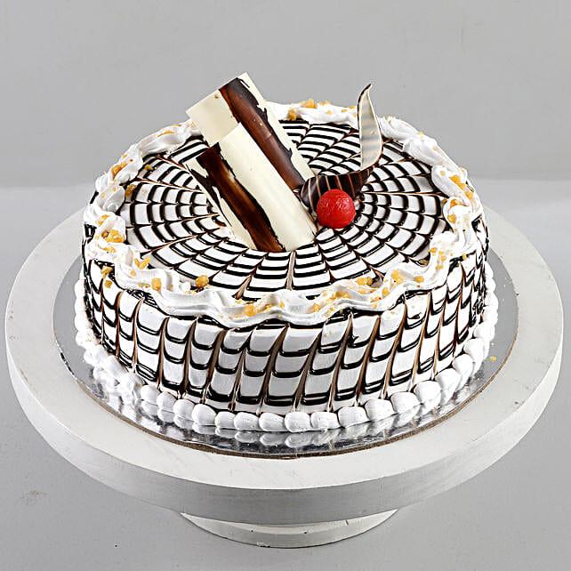 Designer Butterscotch Cream Cake: Send Cake