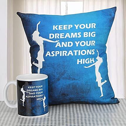 Determined To Rise: Cushions and Mugs Combo
