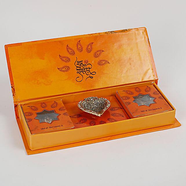 Diwali Poojan Kit With Lakshmi Ganesha Idols: Laxmi Ganesh Gifts
