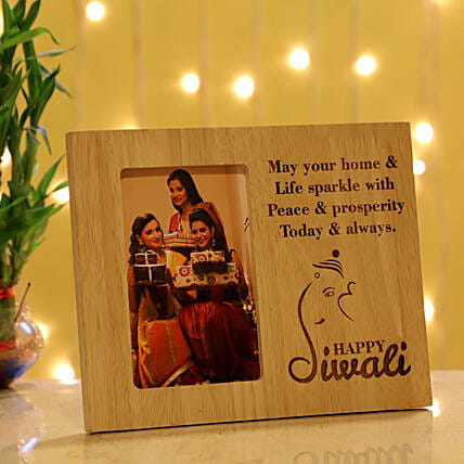 Diwali Wishes Personalised Photo Frame: Personalised Photo Frames Gifts