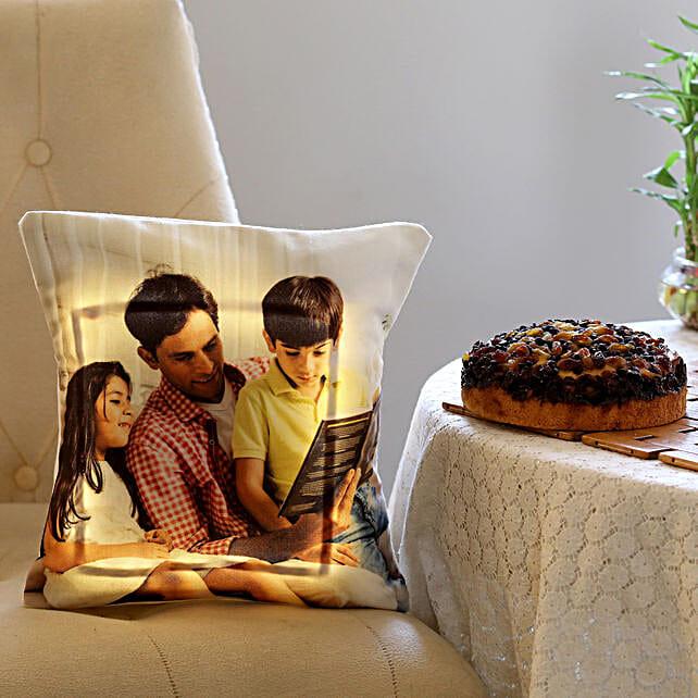 Dry Cake & Personalised LED Cushion Combo: Cakes Combo
