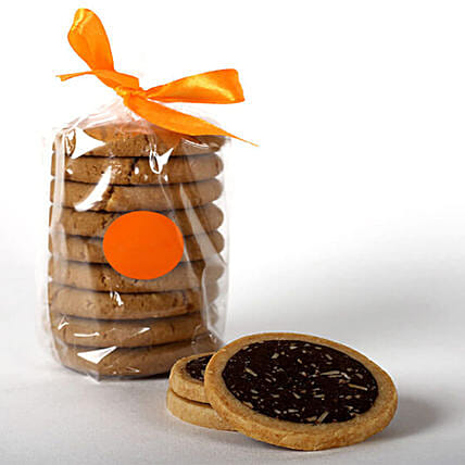 Eggless Cocoa & Almond Cookie Tin: Gourmet Gifts