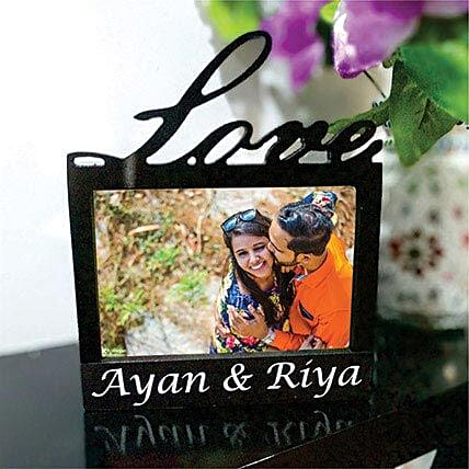 Elegant Love Photo Frame Lamp: Send Photo Frames
