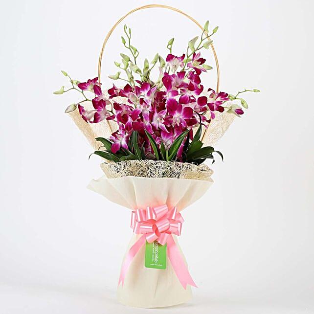 Elegant Purple Orchids Bouquet: Orchids
