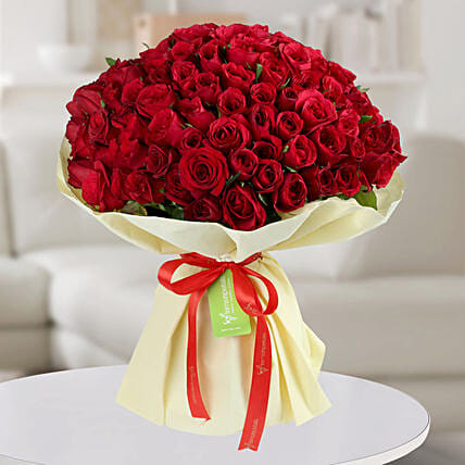 Enchanting Red Roses Bunch: Premium Roses