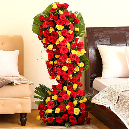 Endless Love- 100 Roses Floral Tower: Romantic Valentine Gifts