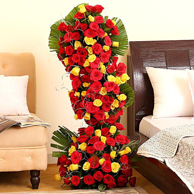 Endless Love- 100 Roses Floral Tower: Premium Roses