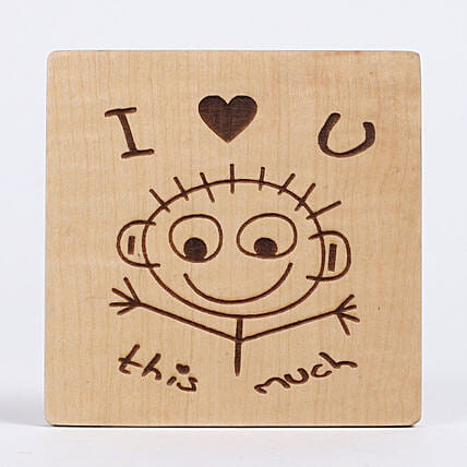 Engraved I Love You Table Top: