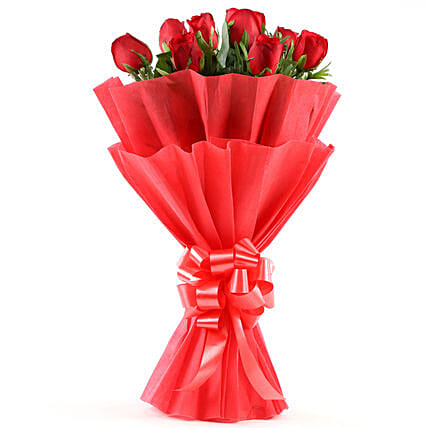 Enigmatic Red Roses Bouquet: Send Gifts to Bhopal
