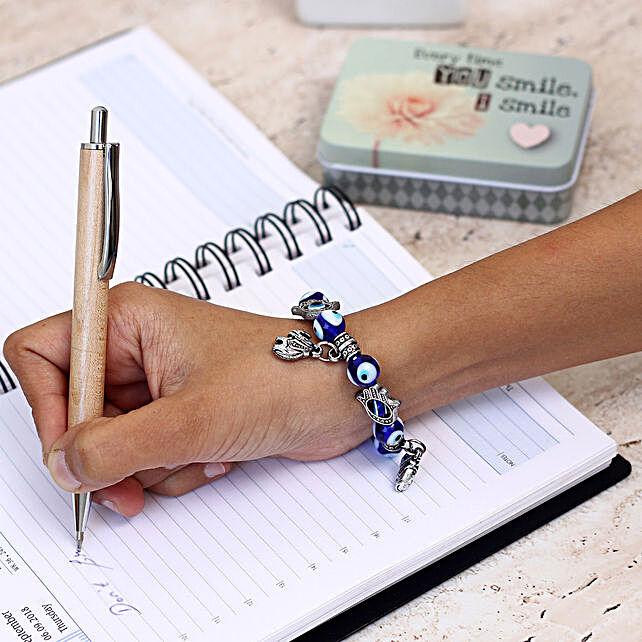 Evil Eye Charm Bracelet: Feng Shui Gifts