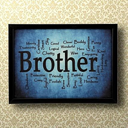 Expressive Brother Frame Gifts For