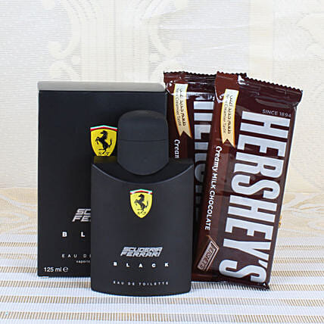 Ferrari Black Perfume & Chocolates: Gift Combos