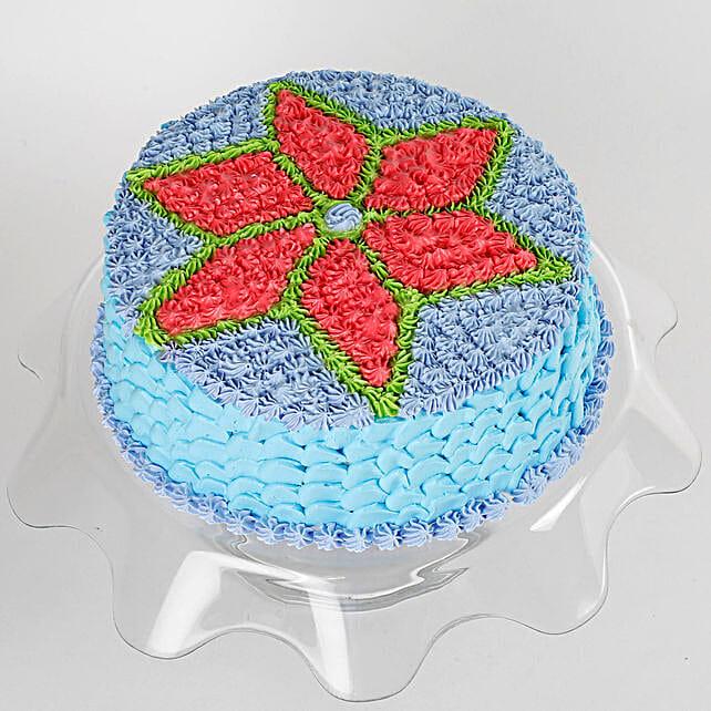 Floral Design Cream Cake: Mango cakes