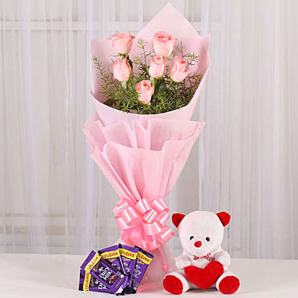 Flowers n Soft toy: Send Flowers & Teddy Bears for Propose Day