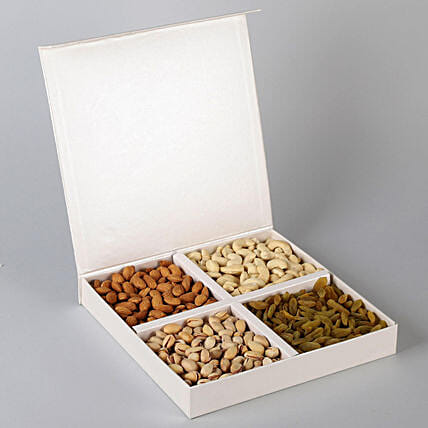 FNP Special Dry Fruits in White Box: Send Dry Fruits for Karwa Chauth