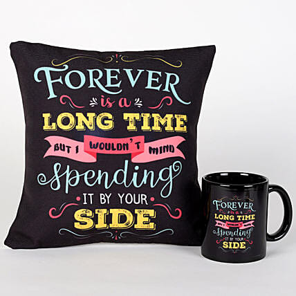 Forever By Your Side Cushion & Mug Combo: Cushions and Mugs Combo