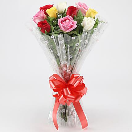 Fragrant Mixed Roses Bouquet:
