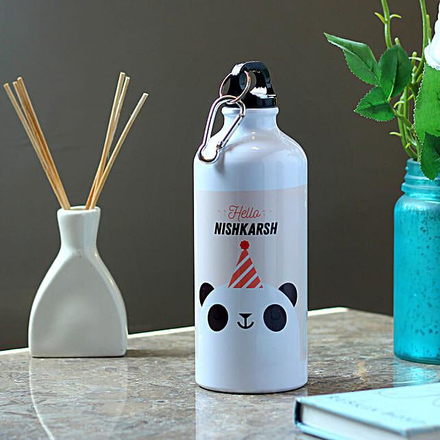 Funny Panda Personalised Steel Bottle: Send Personalised Message Bottles