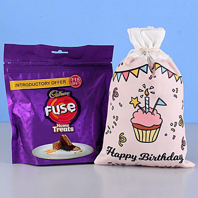 Fuse Home Treats & Birthday Gunny Bag: