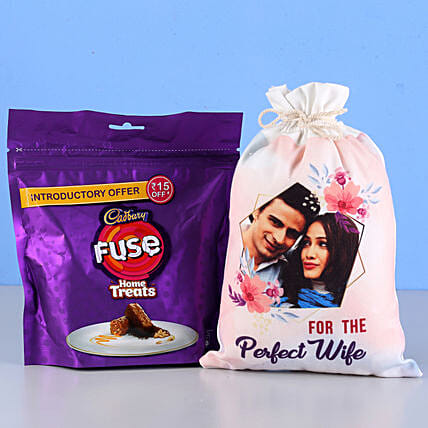 Fuse Home Treats & Personalised Gunny Bag: Cadbury Chocolates