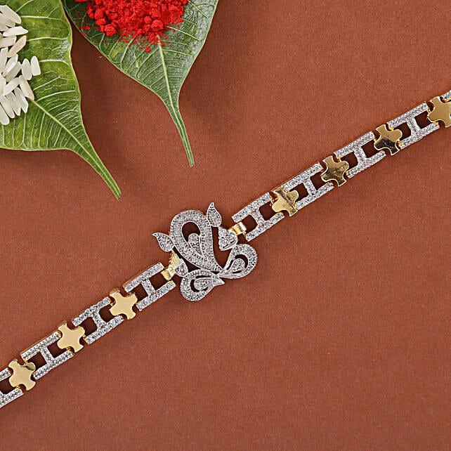 Ganesha Spiritual Bracelet Rakhi: Single Rakhi