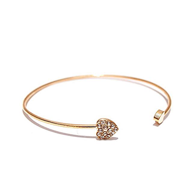 Gold Heart Bracelet: