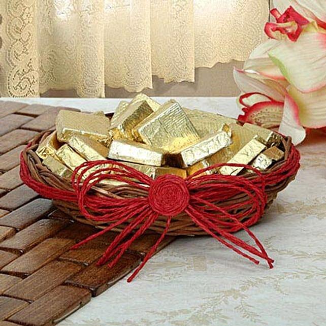 Golden Choco Basket: Christmas Chocolates