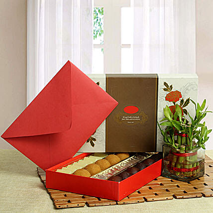 Good Luck with Assorted Sweets: Send Diwali Gift Hampers