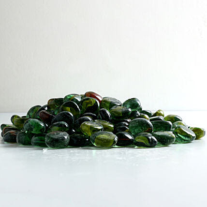 Green Crystal Pebbles 10 To 15 mm: Gardening Pebbles