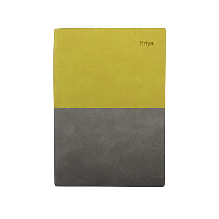 Green & Grey Personalised Notebook: