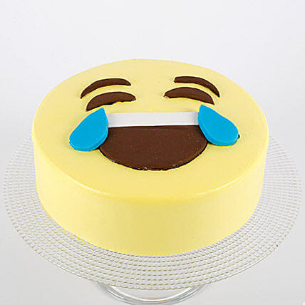 HaHa Emoji Semi Fondant Cake: Send Black Forest Cakes