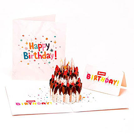 Handmade 3D Pop Up Birthday Cake Greeting Card: Greeting Cards