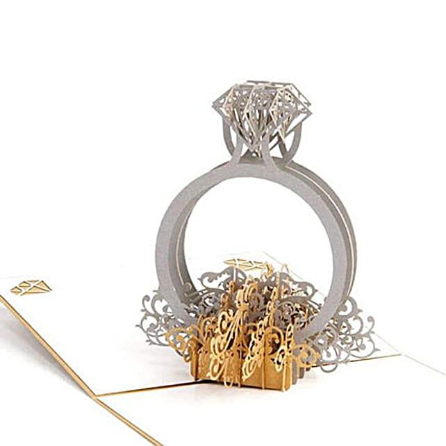 Handmade 3D Pop Up Diamond Ring Greeting Card: Unusual Gifts