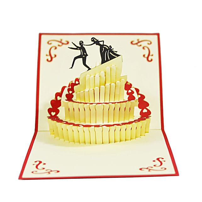 Handmade 3D Pop Up Wedding Cake Card: Greeting Cards