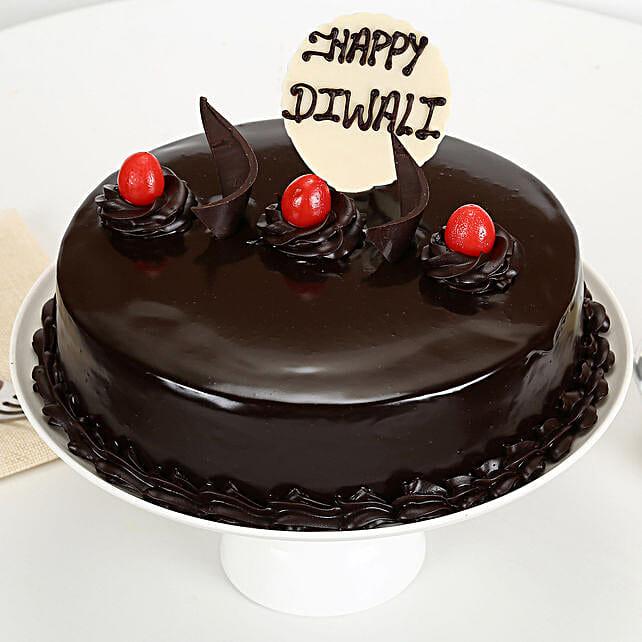 Happy Diwali Truffle Cake: Send Diwali Cakes