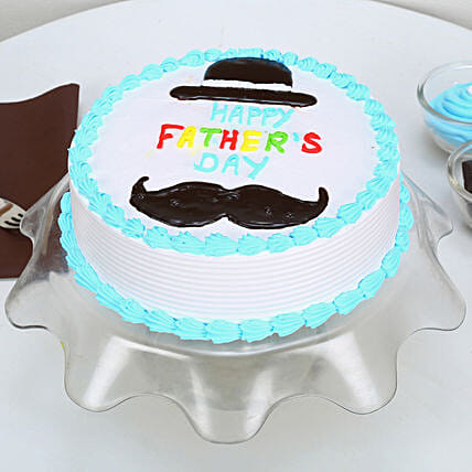 Hat And Moustache Fathers Day Cake: Fathers Day Designer Cakes