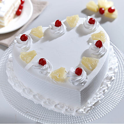 Heart Shaped Pineapple Cake: 25Th Anniversary Cakes